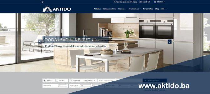 Uskoro nova AKTIDO web stranica za nekretnine
